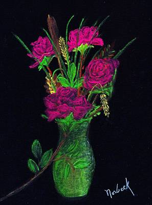 One More Rose Art Print by Thomas J Norbeck