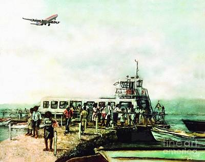 Passenger Plane Painting - 'one More Trip' 1989 by Ewan McAnuff