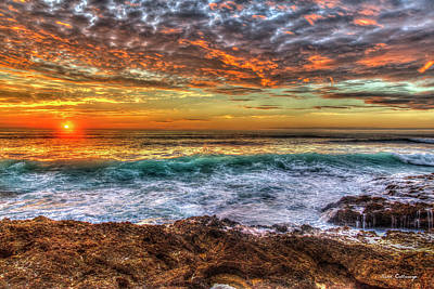 Photograph - One More Wave Waianae Oahu Sunset Hawaii Collection Art by Reid Callaway