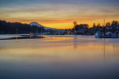 Photograph - One Morning In Gig Harbor by Ken Stanback