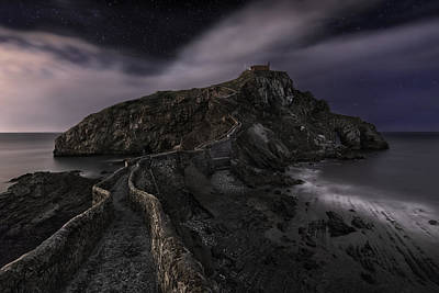 Stones Photograph - One Night In Gaztelugatxe by Fran Osuna