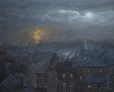 Fine Painting - One Night In Paris  by Ken Figurski