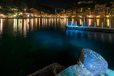 One Night In Portofino - Una Notte A Portofino Art Print
