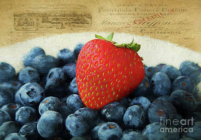 Strawberry Bunch Photograph - One Of A Kind by Darren Fisher
