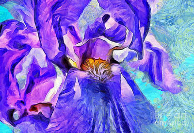 Purple Floral Photograph - One Of A Kind by Krissy Katsimbras