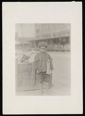 Painting - One Of America's Youngest Newsboys. by Celestial Images