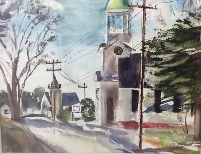 Painting - One Of Churches On Main St In Wellfleet Ma by Tom Steiner