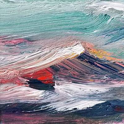 Fineart Painting - Wave Mountain by Christian Ruckerbauer