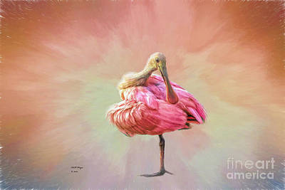 Spoonbill Mixed Media - A Mother Nature's Masterpiece IIi by Bill And Deb Hayes