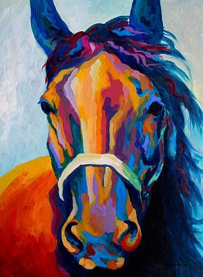 Horse Wall Art - Painting - One Of The Boys by Marion Rose
