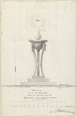 Scifi Portrait Collection - One of the four urns in front of the monument to the National festival in celebration of the Peace o by Bartholomeus Ziesenis