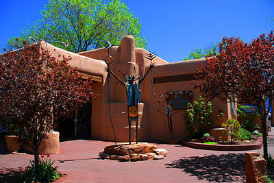 One Of The Many Art Galleries In Santa Fe Art Print