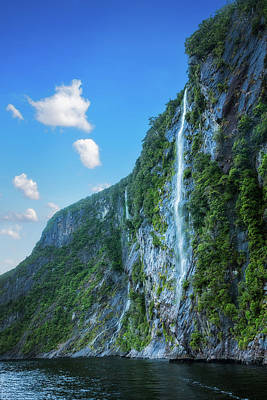Photograph - One Of The Numerous Waterfalls Falling Down The Sheer Cliffs At  by Daniela Constantinescu