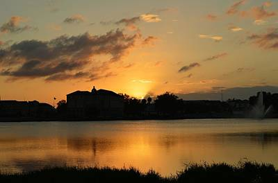 Photograph - One Of Those Sunsets Over Lake De Soto by rd Erickson
