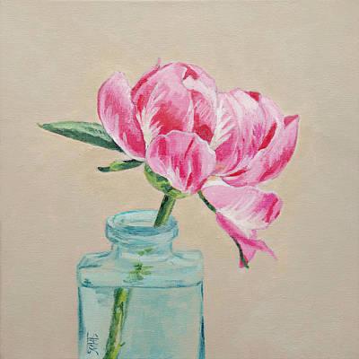 Painting - One Peony by Masha Batkova