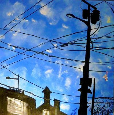 Painting - One Philly Sky by Lilliana Didovic