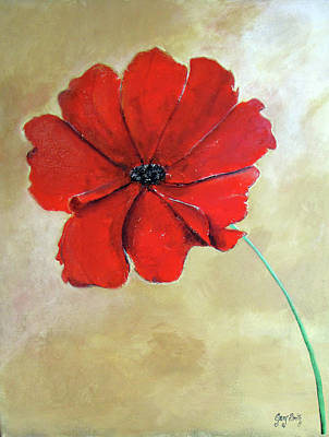 Painting - One Poppy by Gary Smith