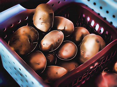 Potato Digital Art - One Potato Two Potato by Aliceann Carlton