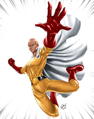 Painting - One Punch Man by Pete Tapang