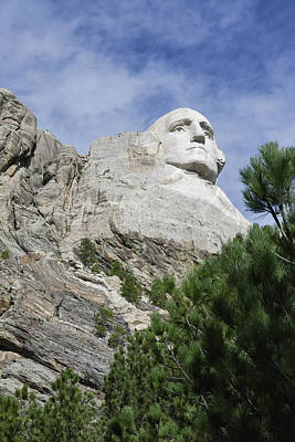 Photograph - One Quarter Of Mt. Rushmore by Keith Boone