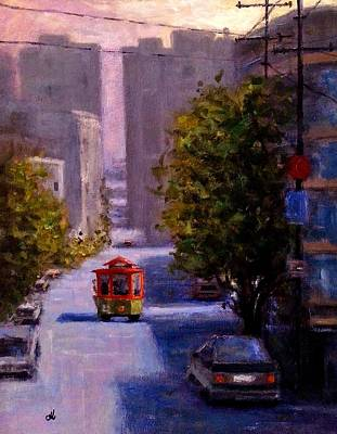 Painting - One Quiet Afternoon In San Francisco.. by Cristina Mihailescu