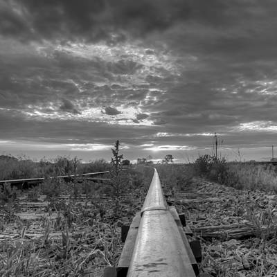Photograph - One Rail by HW Kateley