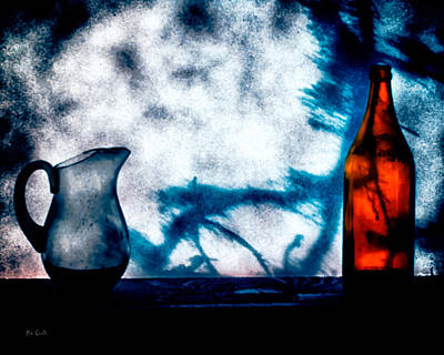 Shadow Photograph - One Red Bottle by Bob Orsillo