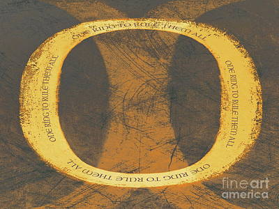 Mixed Media - One Ring To Rule Them All by Tim Richards