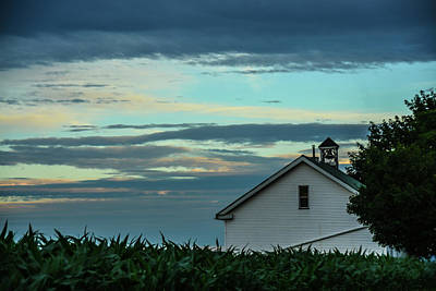 Photograph - One-room School At Dusk by Tana Reiff