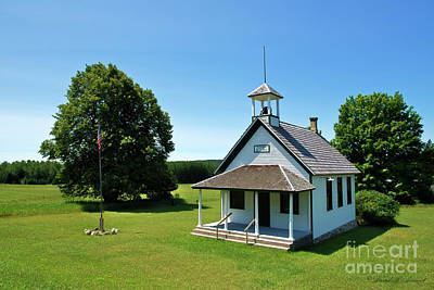 Photograph - One Room School House by David Arment
