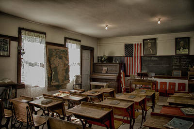 Photograph - One Room Schoolhouse by Debby Richards