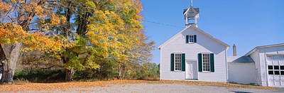 Schoolhouse Photograph - One-room Schoolhouse In Upstate New by Panoramic Images