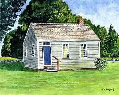 One Room Schoolhouse Stafford Springs Ct. Art Print by Jeff Blazejovsky