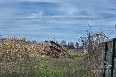 Photograph - One Row Corn Picker by David Arment