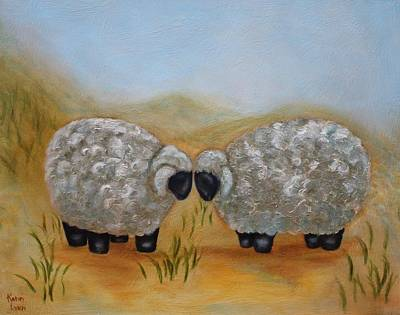 Painting - One Sheep  Two Sheep by Kathy Lynn Goldbach