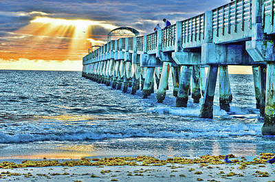 Fog Photograph - One Side Of The Pier Hdr by Ken Figurski
