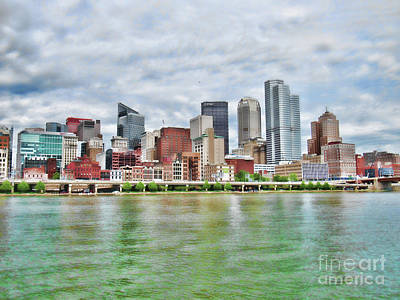 Photograph - One Skyline View Of Pittsburgh by Roberta Byram