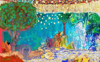 Painting - One Starry Night by Catherine Lott