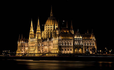 Photograph - One Starry Night In Budapest by Jaroslaw Blaminsky
