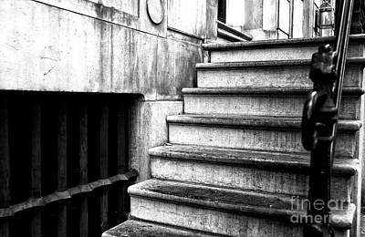 Photograph - One Step At A Time In Amsterdam Mono by John Rizzuto