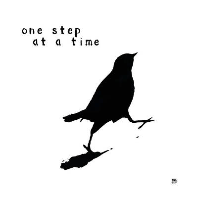 Painting - One Step At A Time Wee Bird by Lisa Weedn