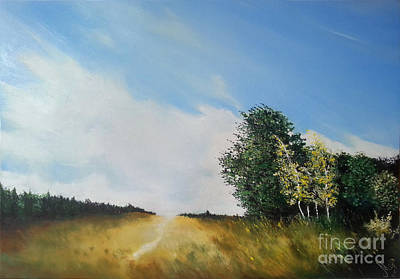 Painting - One Summers Day Oil Painting by Maja Sokolowska