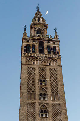 Moon Photograph - One Thousand And One Nights - Seville Giralda by Andrea Mazzocchetti