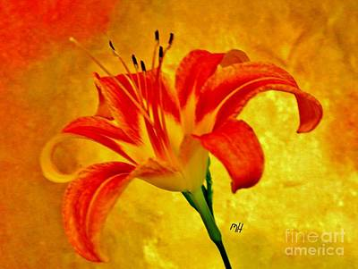 Art Print featuring the photograph One Tigerlily by Marsha Heiken