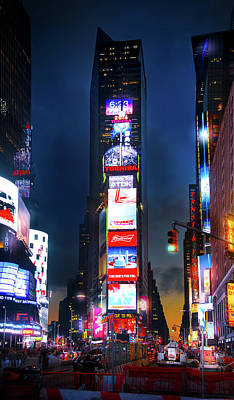Broadway Photograph - One Times Square by Mark Andrew Thomas