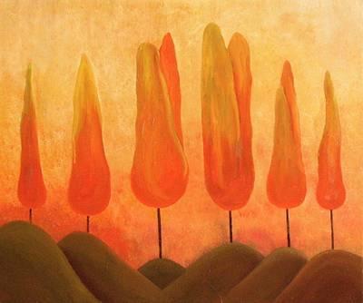 Art Print featuring the painting One Treeperhill by John Stuart Webbstock