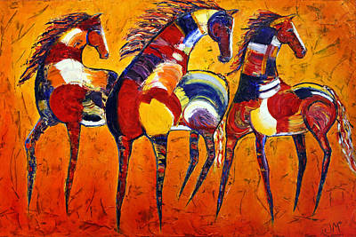 Art Print featuring the painting One Tribe by Jennifer Godshalk