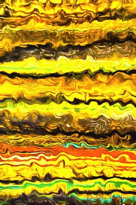 Abstract Digital Painting - One Up Abstract Panel 3 by Barbara Snyder