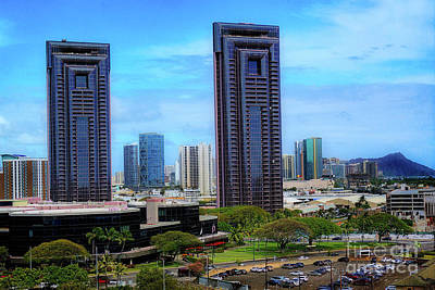 Photograph - One Waterfront Towers In Honolulu by Sue Melvin