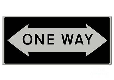 One Way Either Way Usa Art Print